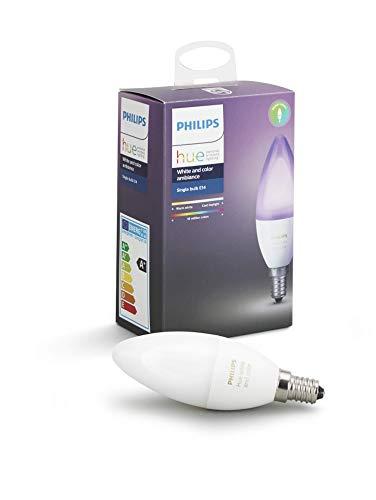 Philips Hue Weiß & Farbe AmbienteE14 LED Kerze Erweiterung, dimmbar, bis...