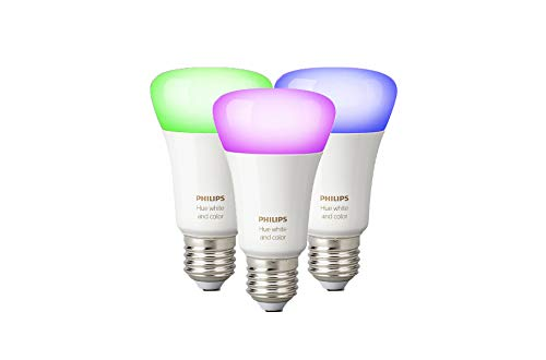 Philips Hue White and Color Ambiance E27 LED Lampe Dreierpack, dimmbar, bis...