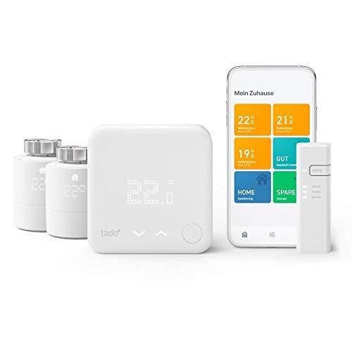 tado° Smartes Thermostat - Starter Kit V3+ mit 2 Smarten...