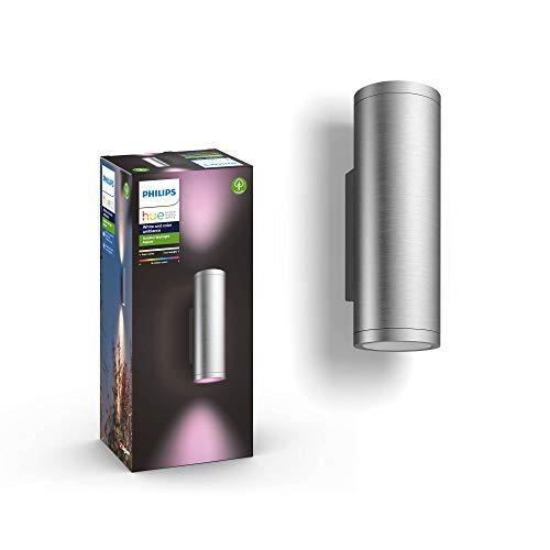 Philips Hue White & Col. Amb. LED Außenwandleuchte Appear, silber, bis zu...