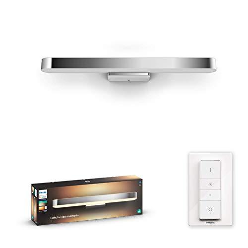 Philips Hue White Amb. LED-Spiegelleuchte Adore inkl. Dimmschalter,...