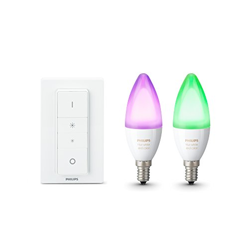 Philips Hue White and Color Ambiance E14 LED Kerze Doppelpack inkl. Hue...