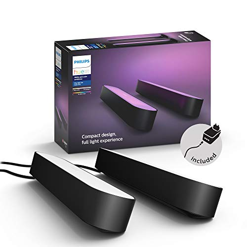 Philips Hue White and Color Ambiance Play Lightbar 2-er Pack, schwarz, bis...