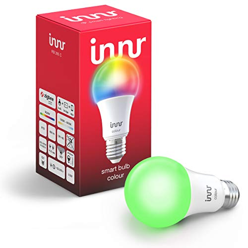 Innr E27 Smart LED Lampe, Color, dimmbar, RGBW, kompatibel mit Philips Hue*...