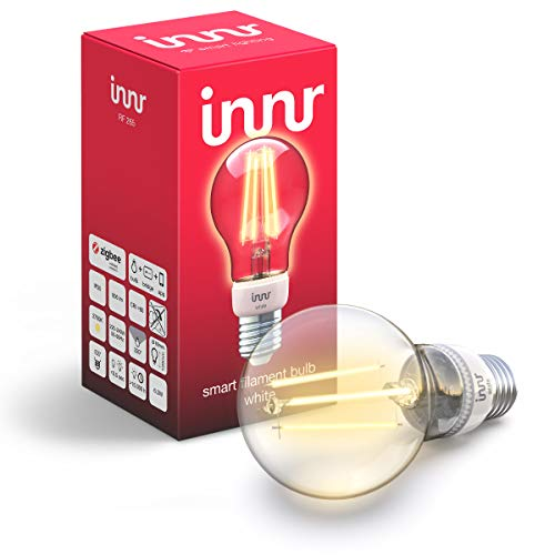 Innr E27 Smart Filament LED Lampe White, warmweiß, works with Philips Hue*...