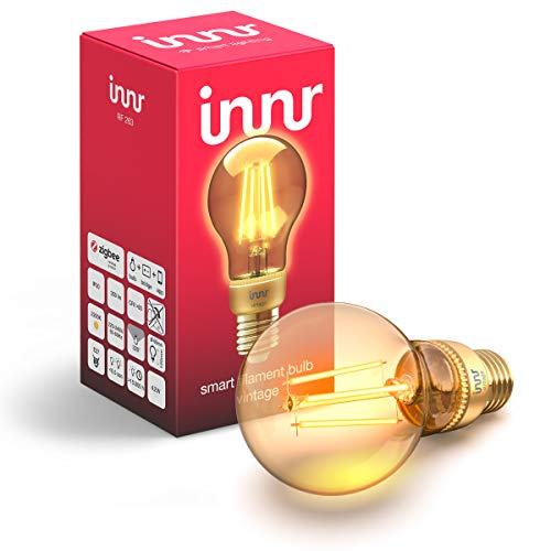 Innr E27 Smart Filament LED Lampe Vintage, 2200K Flame, works with Philips...