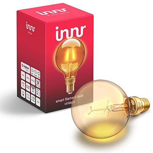 Innr E27 Smart Filament LED Globe Lampe Vintage, 2200K, works with Philips...
