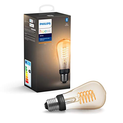 Philips Hue White Filament E27 LED Kolben, dimmbar, warmweißes Licht,...