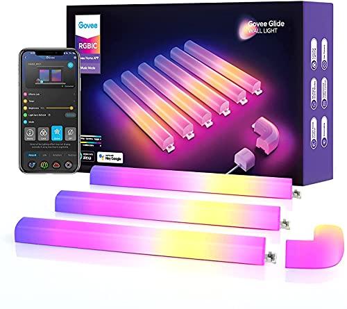Govee Glide Wall Light, Smart RGBIC Wandleuchte funktioniert mit Alexa und...