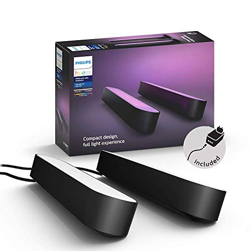 Philips Hue White and Color Ambiance Play Lightbar Doppelpack, dimmbar, bis...