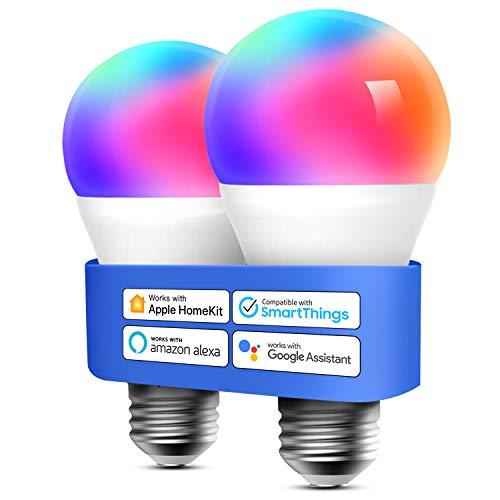 Smart WLAN Glühbirne funktioniert mit Apple HomeKit, Meross Wifi Lampe LED...