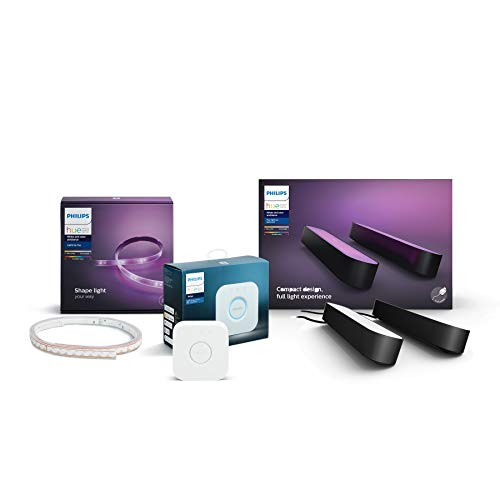 Philips Hue Gaming Starter-Set (1x Philips Hue Play Lightbar Doppelpack...