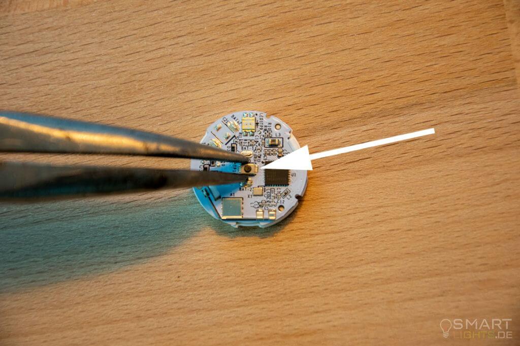 Philips Hue Smart Button mittleren Taster entfernen