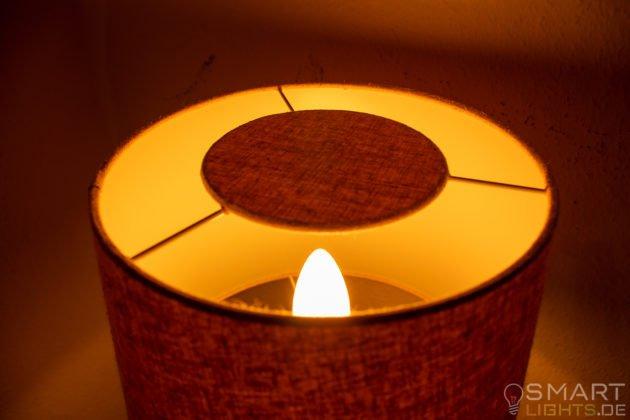 Innr E14 Smart LED Kerze leuchtet in Gelb