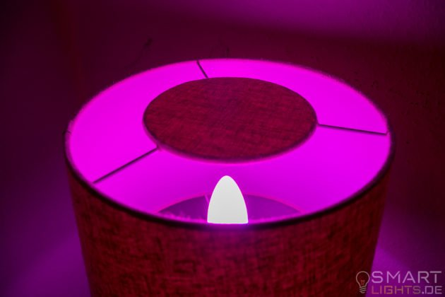 Innr E14 Smart LED Kerze leuchtet in Pink