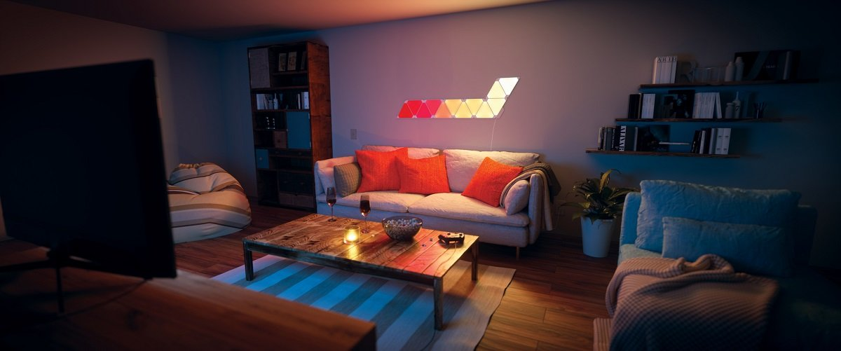 Nanoleaf Aurora Wohnzimmer