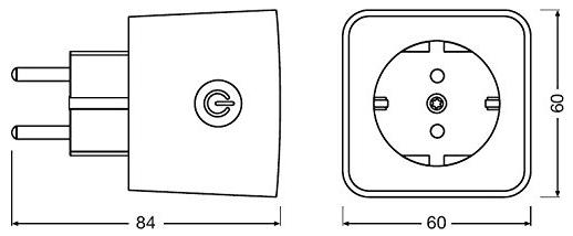 Osram Smart Plug schaltbare Steckdose Maße