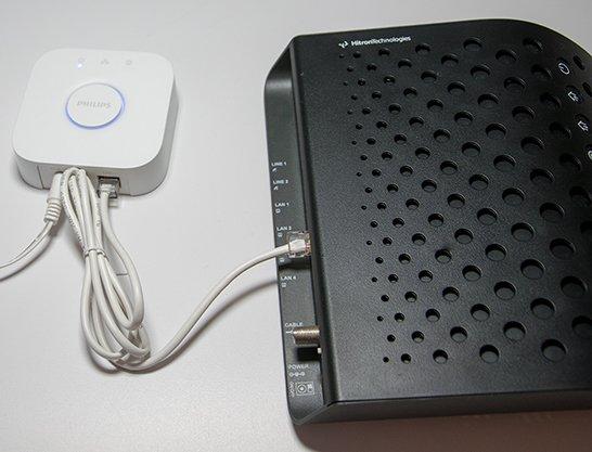 Philips Hue Bridge Router anschließen einrichten