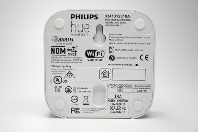 Philips Hue Bridge V2 Eckig hinten