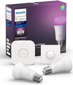 Philips Hue Starter-Kit mit Bridge & Smart-Button