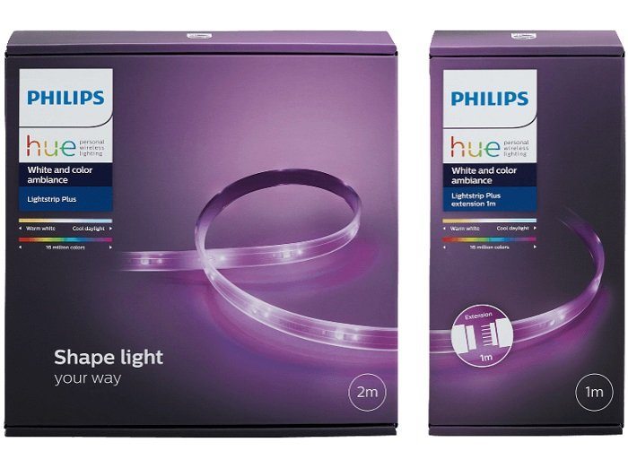 Philips Hue Lightstrip Plus 2 Meter + 1 Meter Erweiterung