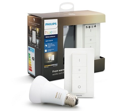 Philips Hue White Ambiance E27 mit Dimmschalter Meethue