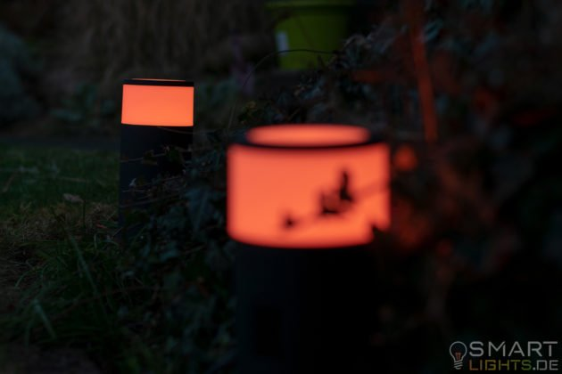 Philips Hue White and Color Ambiance LED Calla Sockelleuchte 1742330P7 Orange