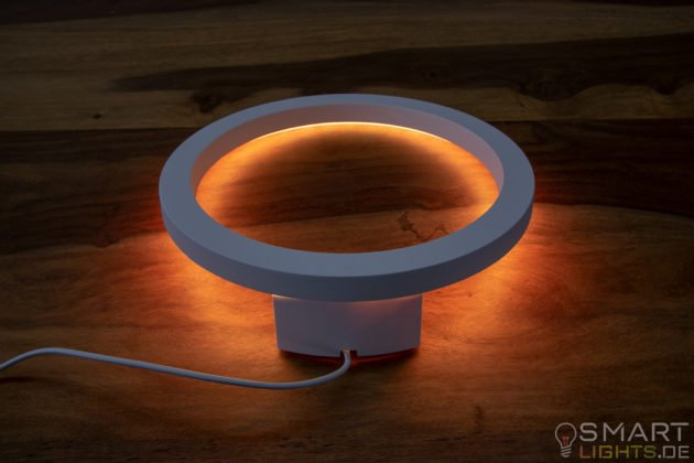 Philips Hue White and Color Ambiance Sana LED Wandleuchte 4090131P7 liegend leucht in Orange