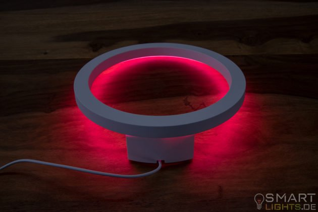 Philips Hue White and Color Ambiance Sana LED Wandleuchte 4090131P7 liegend leucht in Rot