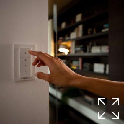 Philips Hue Wireless Dimming Schalter an der Wand