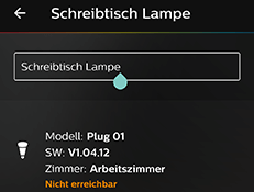 Osram Smart Plug in Philips Hue App umbenennen
