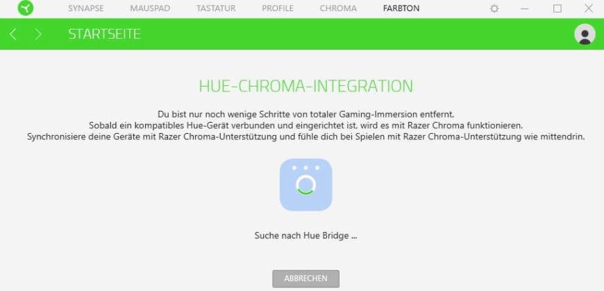 Philips Hue Razer Synapse 3.0 Bridge suchen